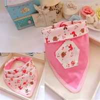 Baby Cotton Bibs Burp Cloths Double Triangle Bib Towel Saliva Feeding Supplies