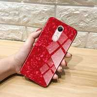Bakeey Shell Bling Glossy Tempered Glass Soft Edge Protective Case for Xiaomi Redmi 5