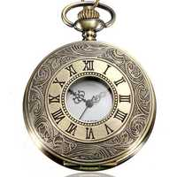 DEFFRUN Vintage Roma Steampunk Quartz Pocket Watch