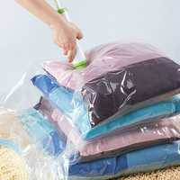 KCASA Vacuum Compress Bag Vacuum Storage Bag Save Space Saving Seal Quilts Clothes Holder Organizer