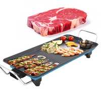 1500W Electric BBQ Grill Korean Smokeless Barbecue Cooking Stove Teppanyaki Non-stick Hotplate