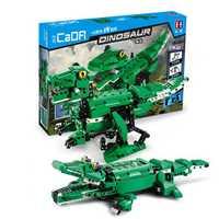 Doublee Cada 2In1 Tyrannosaurus & Crocodile Electric Dinosaur Building Blocks Toys Moving Puzzle