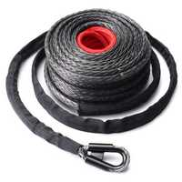 9.5mm x28m Synthetic Winch Line Cable Rope 20500LBs ATV SUV Recovery Rope