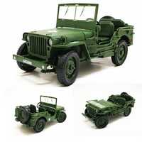 KDW 685006 Alloy ABS 1:18 Military Tactical Car Diecast Model Opening Hood Panels to Reveal Engine Toys