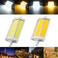 Dimmable R7S 118MM 15W COB SMD White/Warm white LED Flood Light Spot Corn light Lamp Bulb AC 85-265V