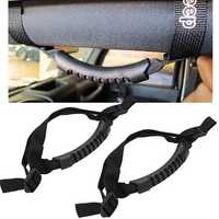 Roll Bar Grab Handle Handles Black Set of 4pcs for Jeep Wrangler YJ TJ JK CJ