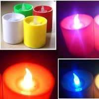 LED Flickering Electronic Colorful Voice Control Candles Light Candle Christmas Holiday Decoration