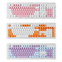 104 Key Light Translucent PBT Keycaps OEM Profile Keycap Set for Mechanical Keyboard