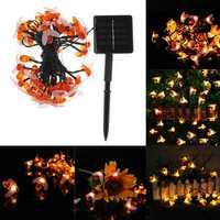 Solar Powered Waterproof Honey Bee Shape 50 LED String Light Garden Yard Decoration Lamp