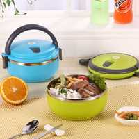 Honana CF-DW88 304 Stainless Steel Lunch Box Portable Bento Food Containers Holder Dinnerware Set