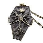 Buy DEFFRUN Nightmare Before Christmas Quartz Pocket Watch Retro Antique Pendant Necklace Children Gift