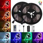 Bon prix GLIME 10M DC12V 5050 RGB LED Strip Light Waterproof Flexible Tape Lamp with 44Keys Remote Control + Power Adapter