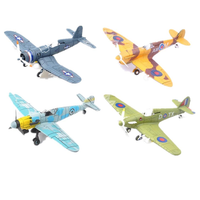 4D Model Plastic Aircraft Assemble Plane Toy 1/48 Supermarine Spitfire Fighter 18*22CM