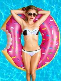 Cute Dessert Donuts Shape Pool Floats Inflatable Swimming La