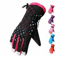 Male Female Outdoor Ski Gloves Waterproof Windproof Winter Thick Motorcycle Gloves