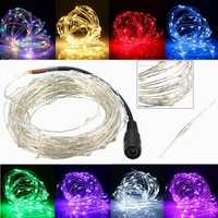 10M 100 LED Silver Wire Christmas Outdoor String Fairy Light Waterproof DC12V