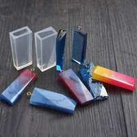 1pcs Sectional Bar Silicone Mould Pendant Crystal Glue DIY
