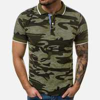 Mens Summer Camouflage Printed Casual Shirts