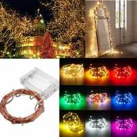 4M 40 LED Copper Wire Fairy String Light Battery Powered Waterproof Xmas Party Decor