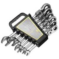 8/10/12/13/14/17mm 6pcs Ratchet Wrench Combination Spanner Hardware Inner Hexagon Car Repair Tools