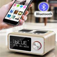 LOCI H3 Bluetooth Speaker Alarm Clock Media Audio Music Clock Radio USB Charging MP3 Player Remote Control