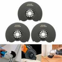 3pcs 88mm High Carbon Steel Semicircle Flush Saw Blades Ocsillating Multitool Accessories
