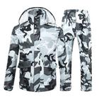 Meilleurs prix Camouflage Raincoat Suit Hiking Motorcycle Riding Thickened Waterproof Men Women Raincoats