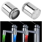 Meilleurs prix LED Light Water Tap Temperature Sensor RGB Glow Shower Stream Shower Head Faucet