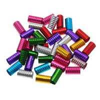 100pcs Dreadlock Beads Spring Shape Adjustable Hair Braid Cuff Clip Lock Styling Tool