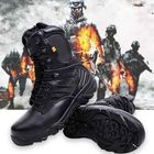 Meilleurs prix Army Men Commando Combat Desert Outdoor Hiking Boots Landing Tactical Military Shoes Sneakers