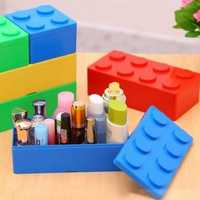 Mini Handy Plastic Jigsaw DIY Superposition Overlay TV Remote Control Cosmetic Bottles Storage Box