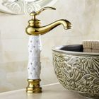 Offres Flash WANFAN 814K Home Bathroom Luxurious Gold Diamond Cystal Single Handle Hot and Cold Water Basin Faucet
