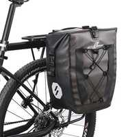 ROCKBROS 27L Bicycle Bag Reflective Waterproof Large Capacity Cycling Rear seat Bike Bag