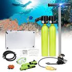 Acheter au meilleur prix Water Sports Diving Set Equipment 0.5L Scuba Oxygen Cylinder Tank Inflation Pump Diving Mask Adapter Storage Box Underwater Breathing Tools