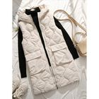 Les plus populaires Women Sleeveless Turn-down Collar Thick Vest Coats