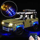 Meilleur prix LED Light Lighting Kit ONLY For LEGO 42110 Land Rover Defender Car Bricks Toys with Remote Control