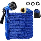 Acheter au meilleur prix 25-200FT EU/US Standard Expandable Magic Blue Flexible Garden Water Hose Car Hose Pipe Connectors Plastic Hose Garden Watering Sets w/ Water Shower