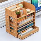 Discount pas cher 7 layers Desktop Wooden Storage Holder Box Multifunctional Wooden Organizer Makeup Tidy