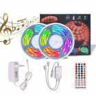 Meilleurs prix 5M 10M Timer Music Control 5050 RGB Waterproof LED Strip Light+40Keys RF Remote Control+EU Power Adapter DC12V