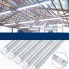 Les plus populaires 10PCS 60cm/90cm T8 V-Shape 2835 LED Tube Lamp Fluorescent Light for Supermarket Parking Workshop AC85-265V