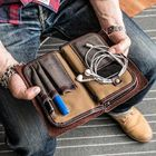 Acheter au meilleur prix Men Vintage Card Holder Solid Phone Bag Business Long Wallet