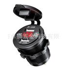 Meilleurs prix 12V/24V Dual USB Fast Charger Socket Outlet Voltmeter W/ Touch Switch For Car Truck Boat
