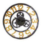 Meilleurs prix Gear Wall Clock Hollow-out Rome Digital Restaurant Decorative Bell Diameter 40cm