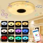 Acheter 36W 60W Modern LED Music Ceiling Light bluetooth Speaker Multi Color Bedroom Lamp AC220V