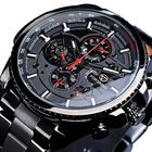 Bon prix Forsining GMT1137 Fashion Men Watch Luminous Week Month Display Automatic Mechanical Watch