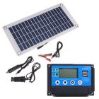 Meilleurs prix 50W Dual USB 12V/5V Solar Panel with Car Charger 10/20/30/40/50A USB Solar Charger Controller for Outdoor Camping LED Light