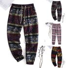 Meilleurs prix Men's Harem Pants Floral Bohemian Hippy Yoga Long Trousers Skinny Casual Bottoms