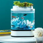 Offres Flash Geometry Mini Lazy Fish Tank USB Charging Self-cleaning Aquarium with 7 Colors LED Light from Xiaomi Youpin