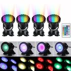 Discount pas cher 4pcs LED RGB Submersible Pond Spot Light Underwater Swimming Pool Lamps AC100-240V