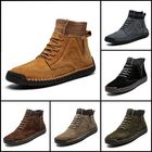 Recommandé Anti-Collision Casual Leather Outdoor Hiking Ankle Boots